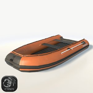 inflatable boat 3d model
