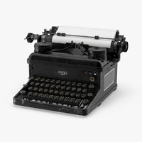 vintage royal typewriter 3d model