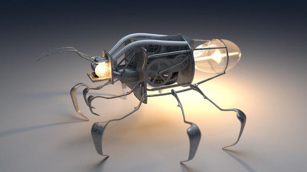 mechanical firefly 3d model
