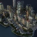 Manhattan Lower Night Part01 Low Poly