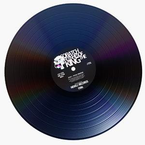 3d model vinyl disc v 2