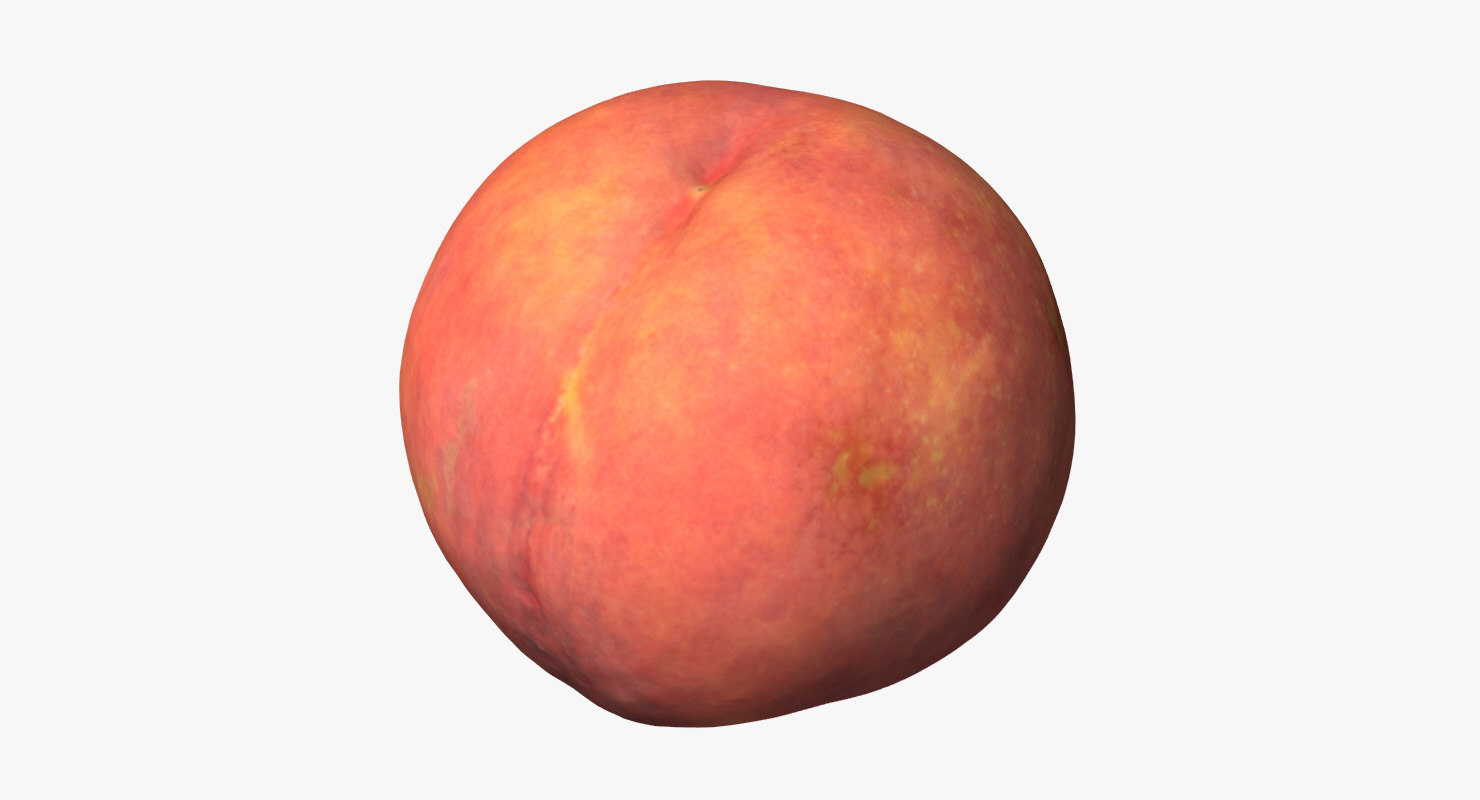 3d peach photogrammetry model