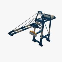 port container crane 3d c4d