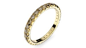 3d model french pave band