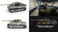 Fully built Panzer Tiger Tank Late 1944 v3 (interior and engine)