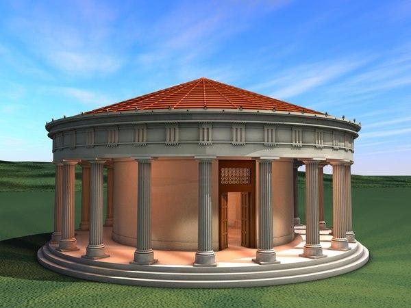 ancient greek tholos temple 3d model