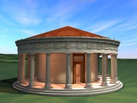 ancient greek tholos temple 3d model