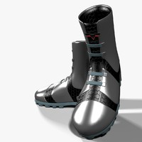 3d model of sci-fi boots
