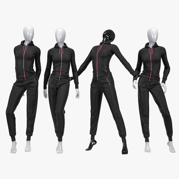 female sport suit 3d max