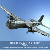 3d model heinkel he-177 - bomber