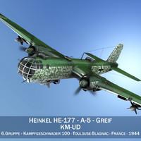 3d heinkel he-177 a-5 - model