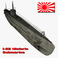 3ds i-52 japanese submarine 52