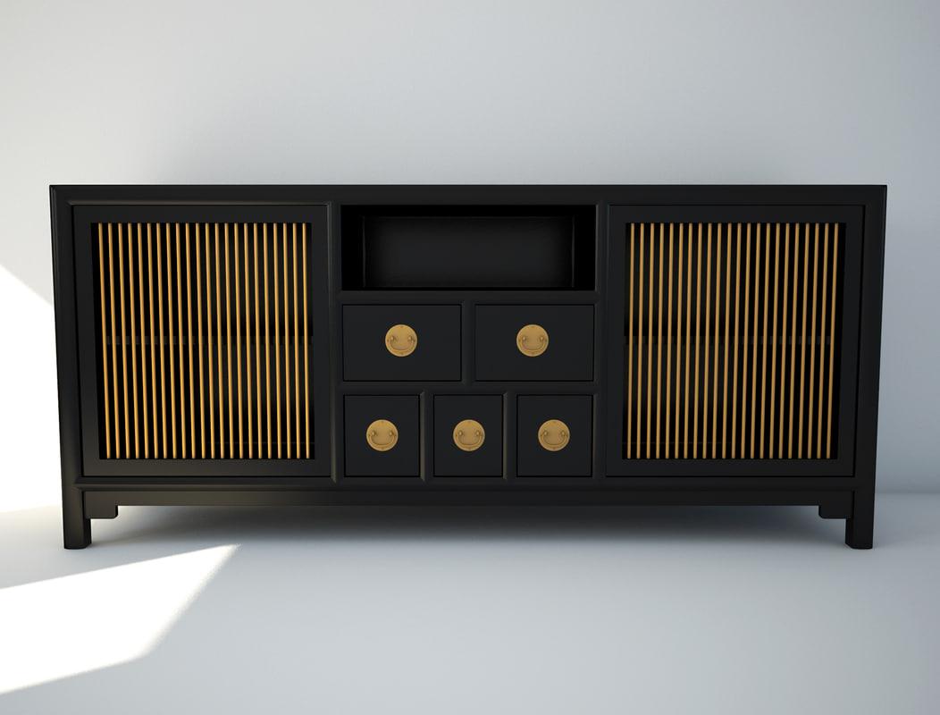tv cabinet 3d max