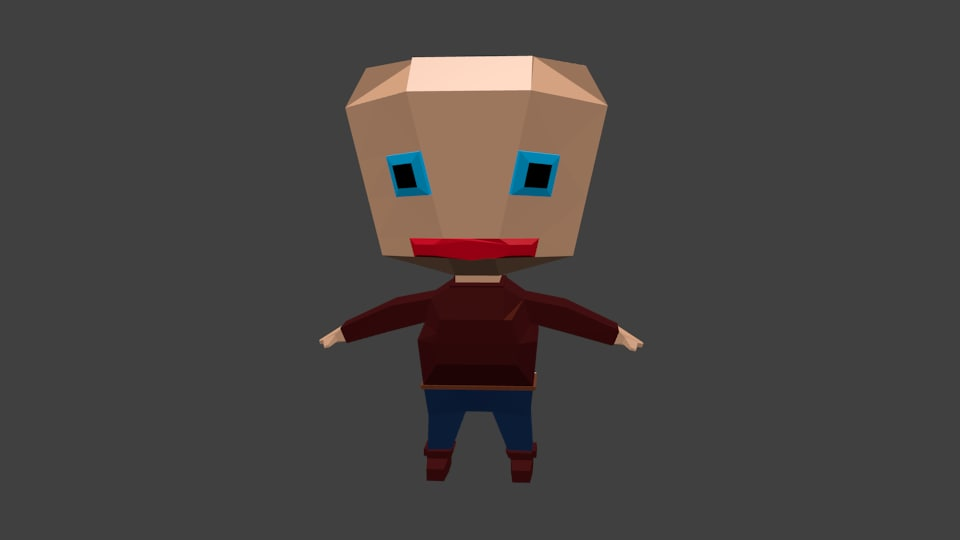 free rigged character 3d model