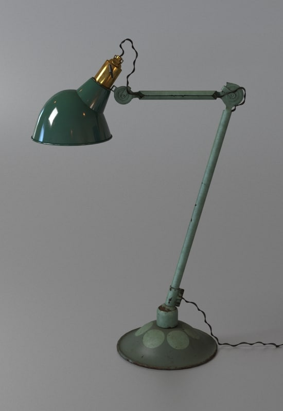 3d model of old lamp