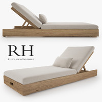 3d model of restoration hardware merida chaise