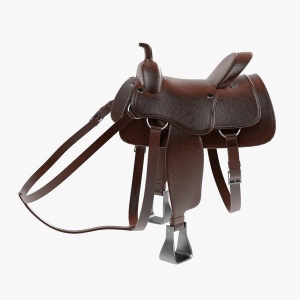 saddle obj