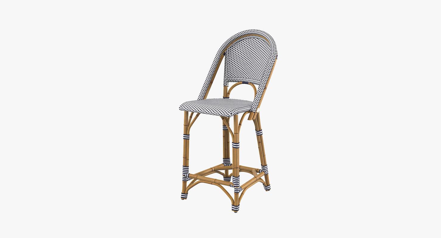 3d riviera counter stool