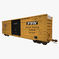 Railroad Boxcar 50ft TTX