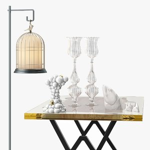 floor lamp table 3d model