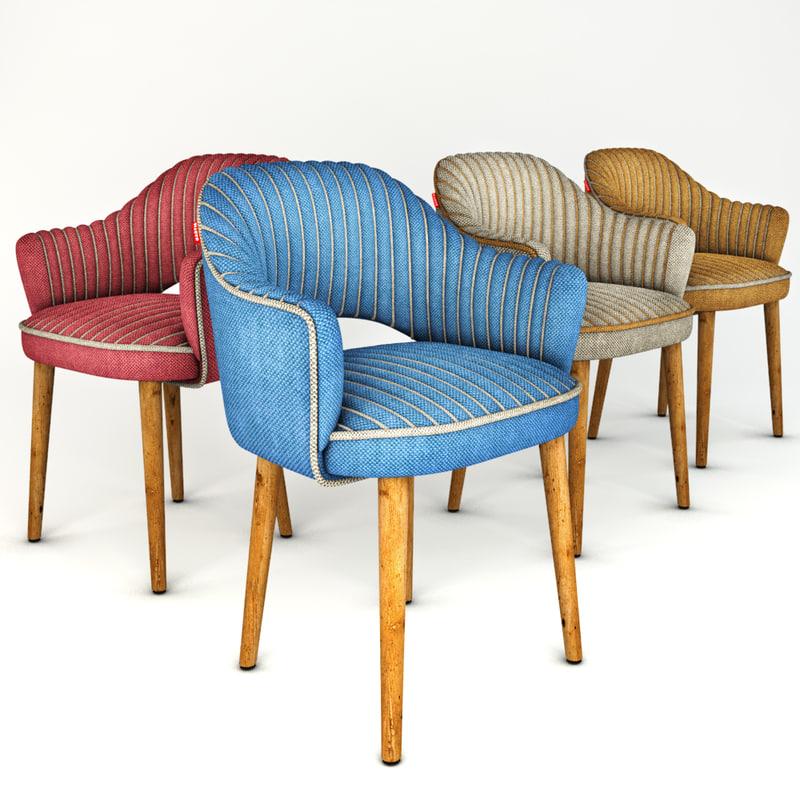 3d chair bars cafes model