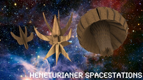 3d heneturianer spacestation station model