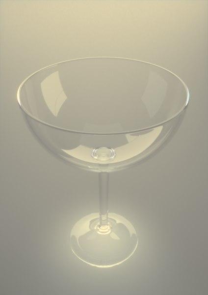 champagne saucer glass glassware 3d model