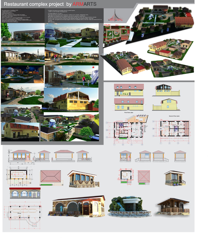 3d model complex scene designs