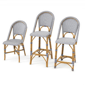 riviera stool set 3d model