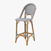 riviera barstool stool 3d model