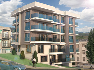 modern apartment house 3d model