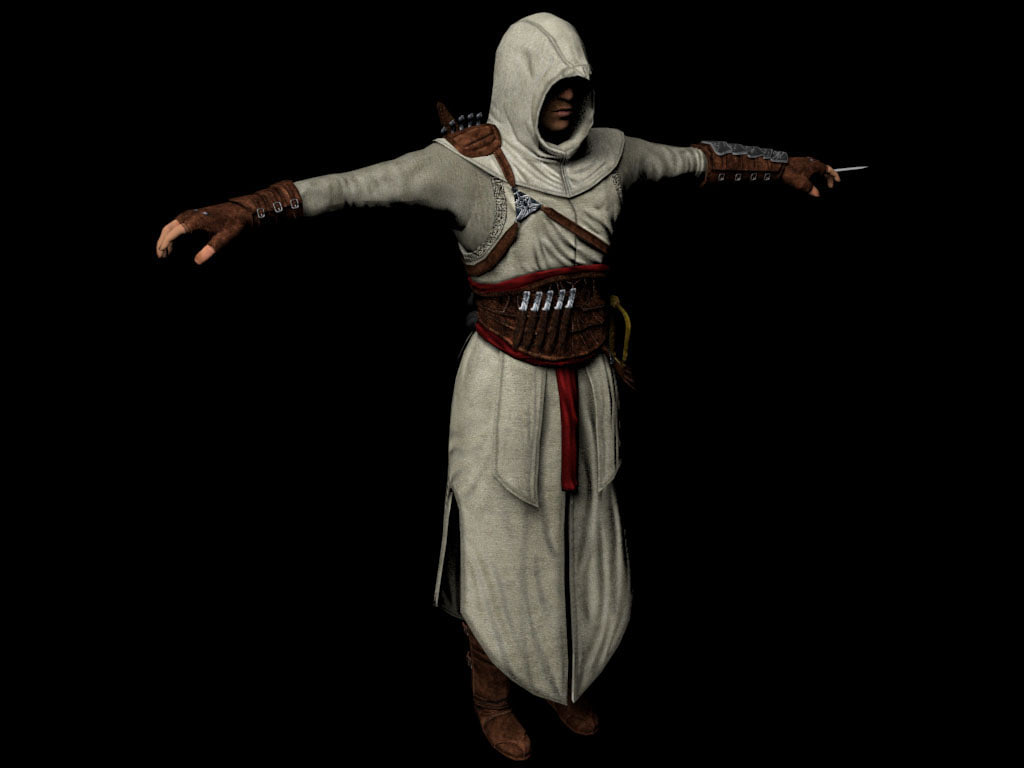 altair assassins creed 3d model