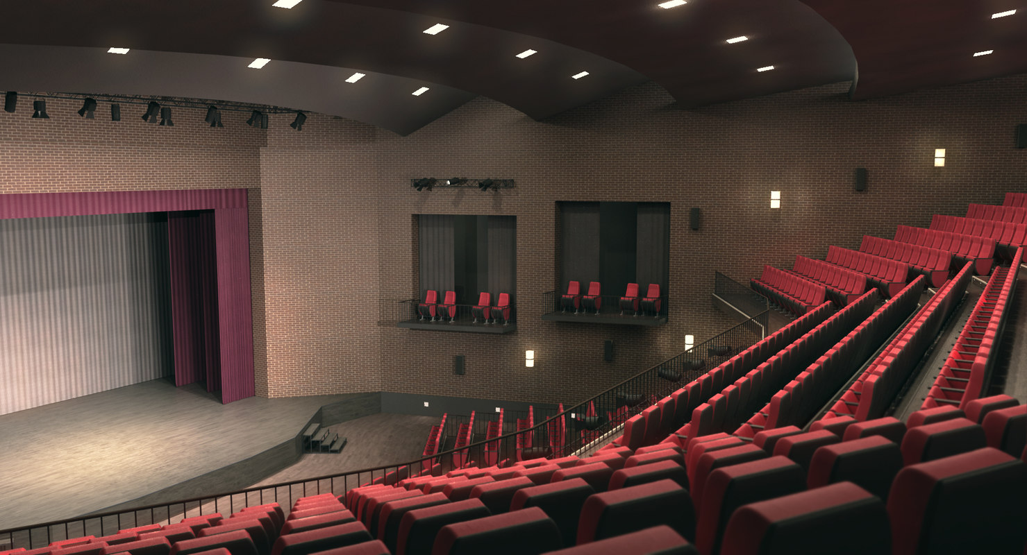 theatrical interior 3d x
