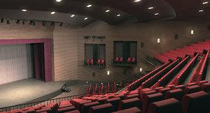 theatrical interior 3d x