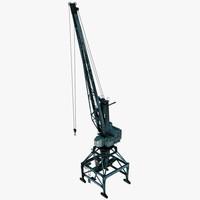 3d model port crane ganz