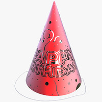 3d model of party hat