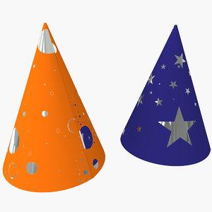 3d 2 party hats