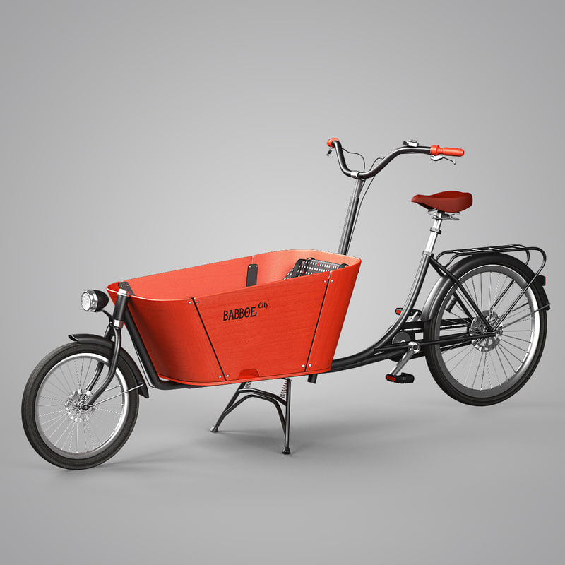 babboe city bike 3d max