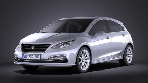 generic hatchback v3 3d model