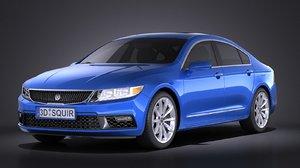 2016 sedan luxury 3d model