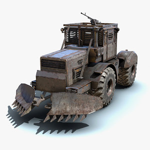 3ds low-poly truck apocalyptic 02