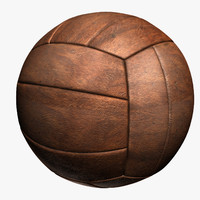 3d model old volleyball