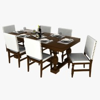 3d dining tables set chairs