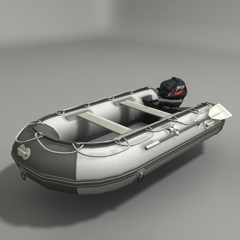 outboard engine 3d model