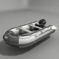 outboard engine 3d model