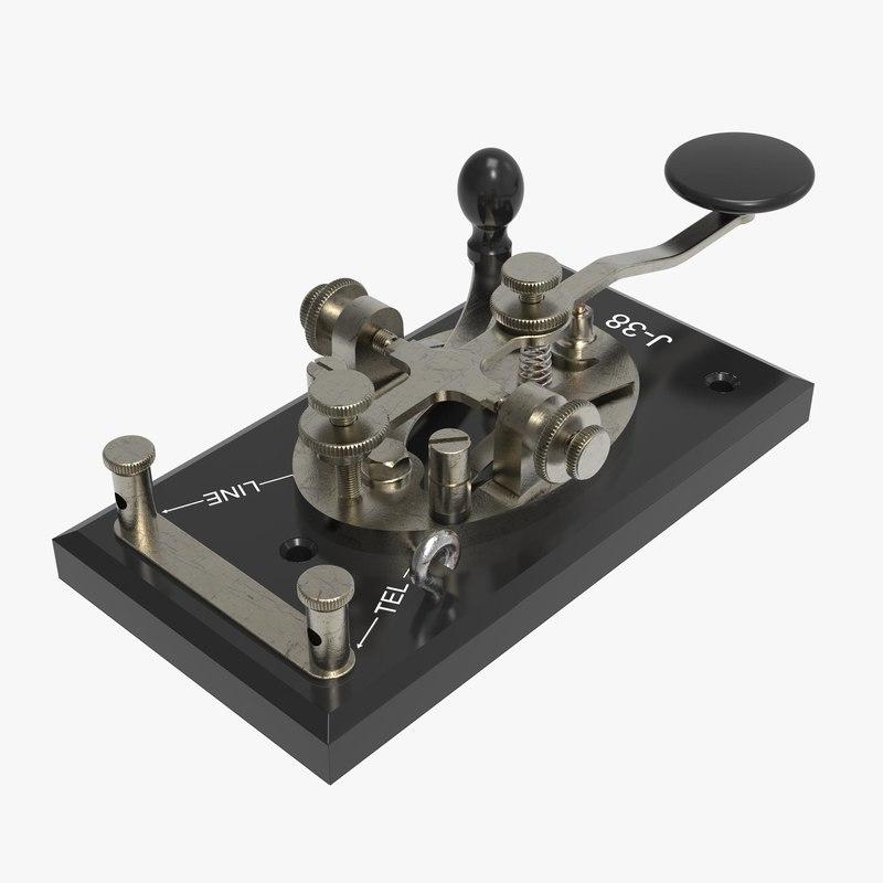 3d telegraph keys j-38 model