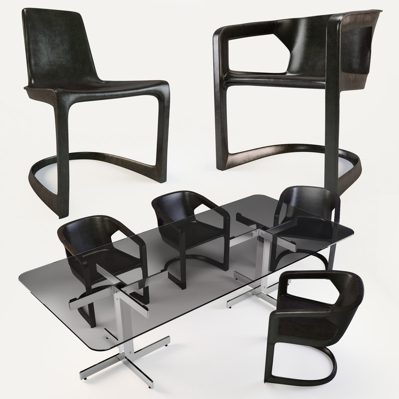3d max minotti twombly chair catlin