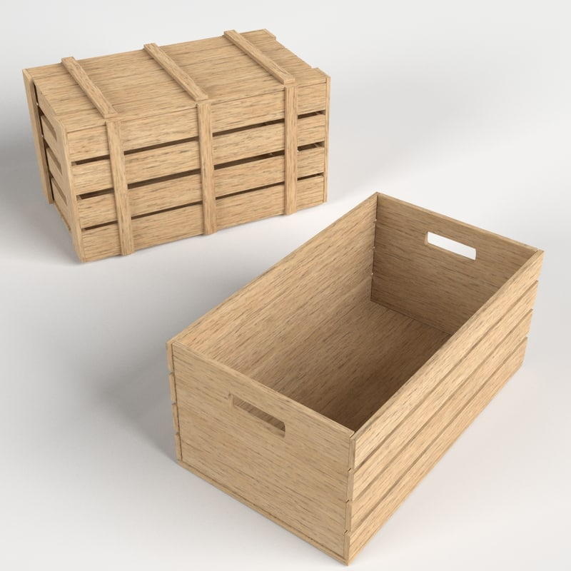 3d wooden crates 1 opened