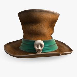 3d model hat