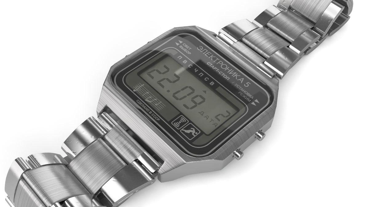 soviet digital watch 3d model